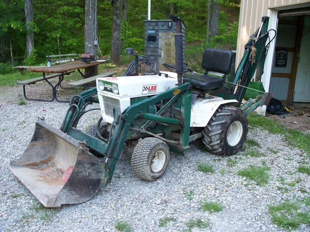 Pins Daddy Bolens Ht23 Garden Tractor With Brantly Front End