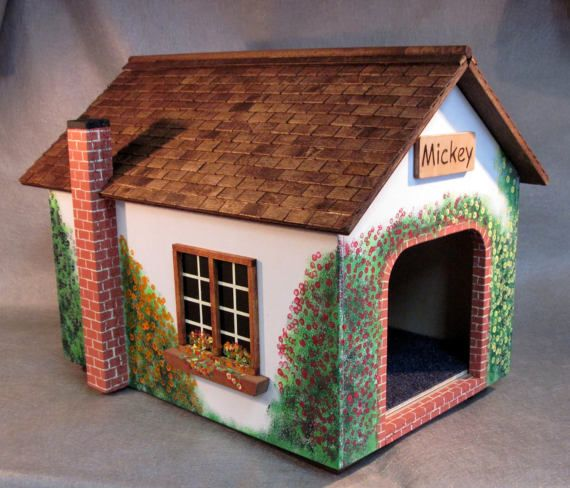Small Dog House Cat Cottage With Wood Tiled By Mrfinnsscratchpost