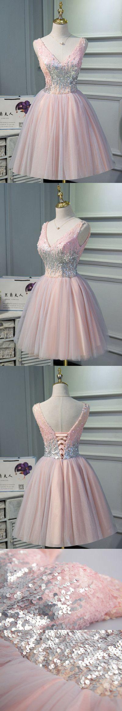 Aline vneck shortmini prom drsess homecoming dress in walk