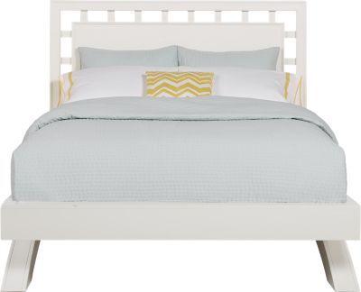 Belcourt White 3 Pc Queen Platform Bed With Lattice Headboard Contemporary Bed Linen Bedroom Sets Queen Bed