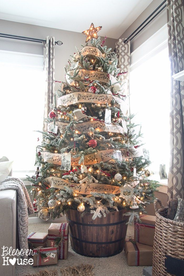 25 of the Most Inspiring Rustic Christmas Trees Rustic christmas
