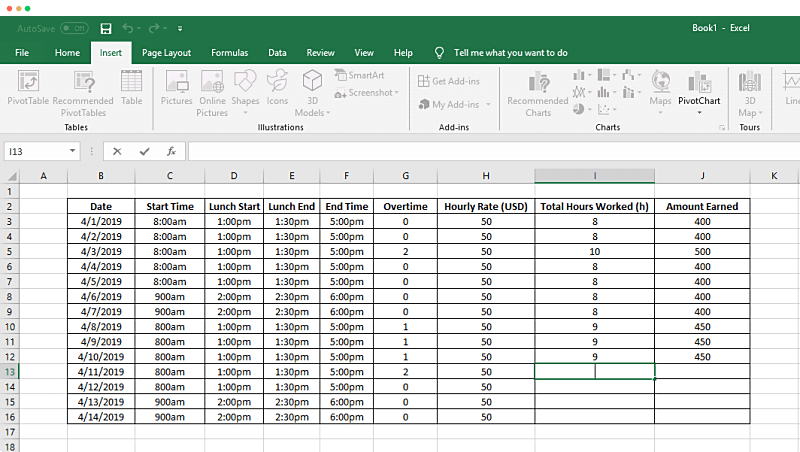 How To Track Time In A Spreadsheet Clockify Excel Templates Time Tracker Excel