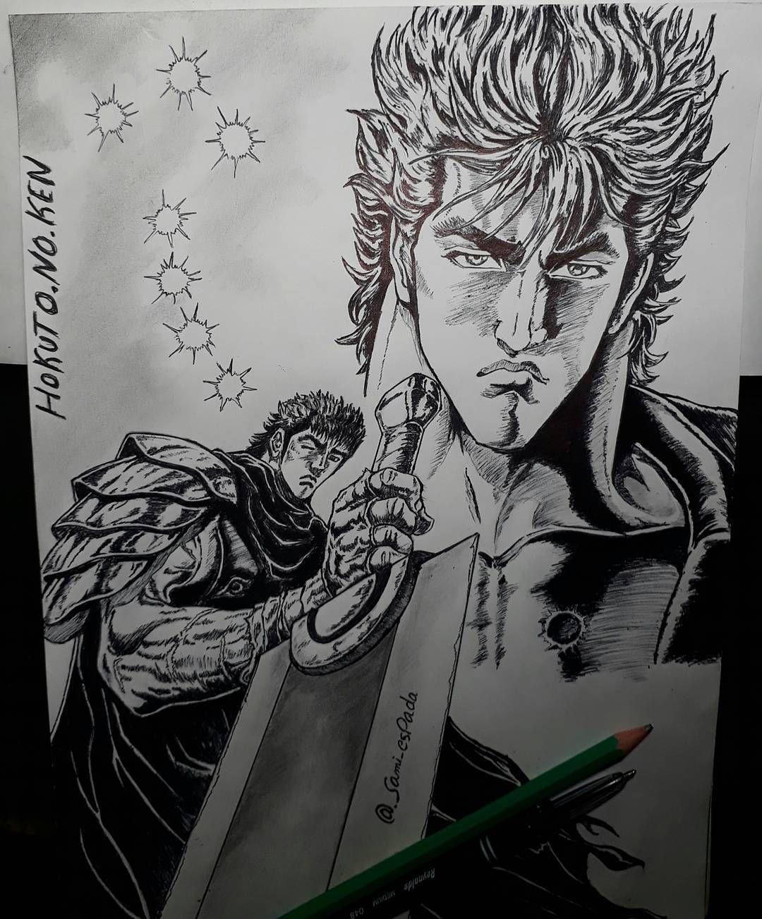 Hokuto No Ken Kenshiro Fist Of The North Star On Mode Berserk 164 Likes 22 Comments Berserk Gatsu Sami Espada On Instagram My North Star Berserk Fist