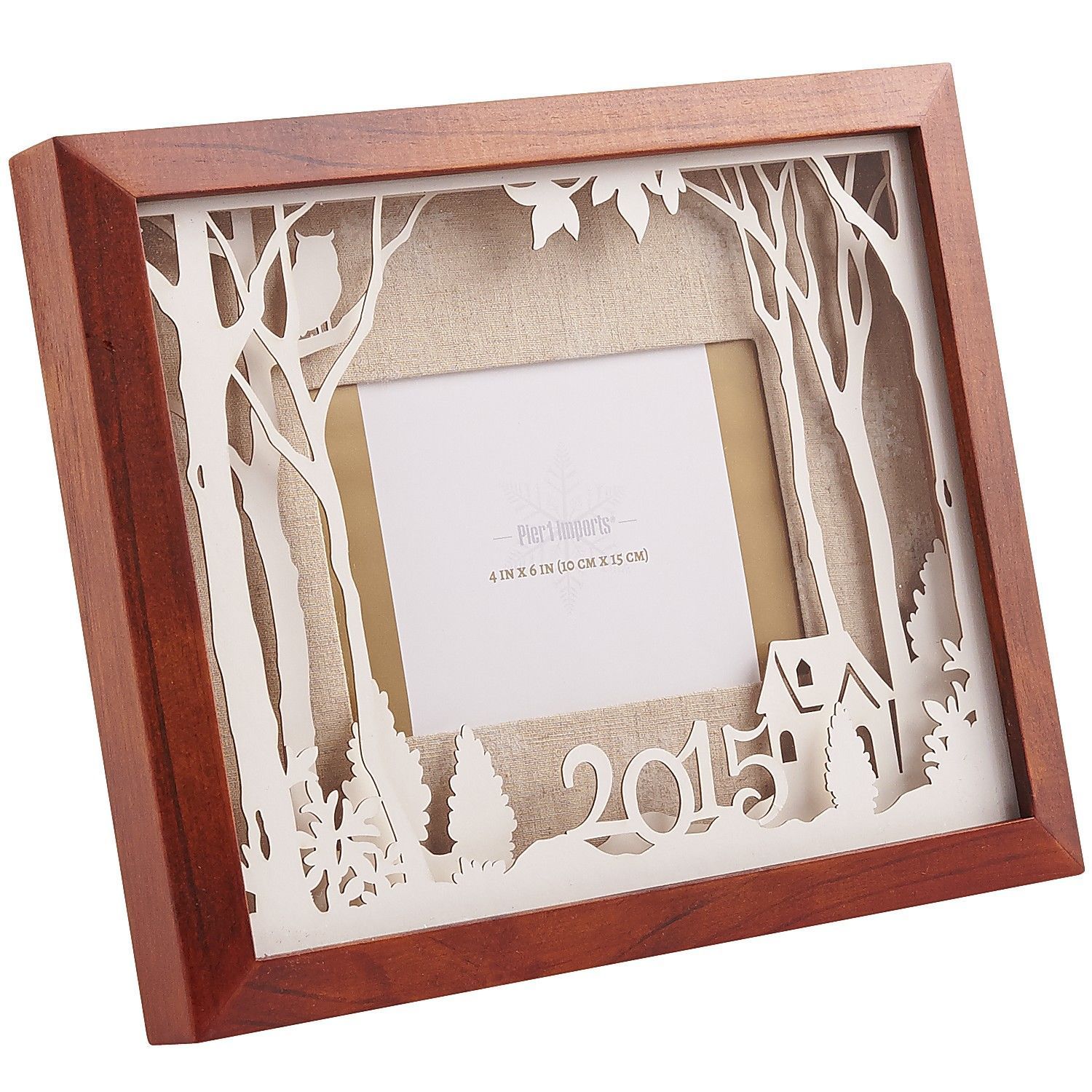 Forest Holiday Frame - 4x6 | Pier 1 Imports | Pretty Paper Cutouts ...
