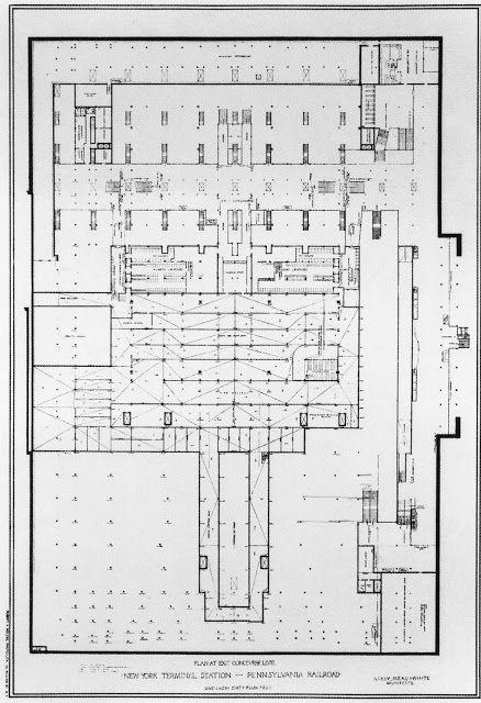 Penn Station Pathfinder Historic Floorplans 1910 Floor Plans Penn Station Nyc Train Station Architecture