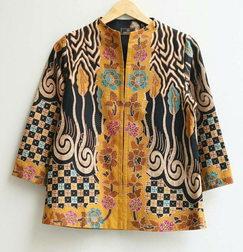 Johanna Batik Top (Dengan gambar)   Desain blus, Pakaian ...
