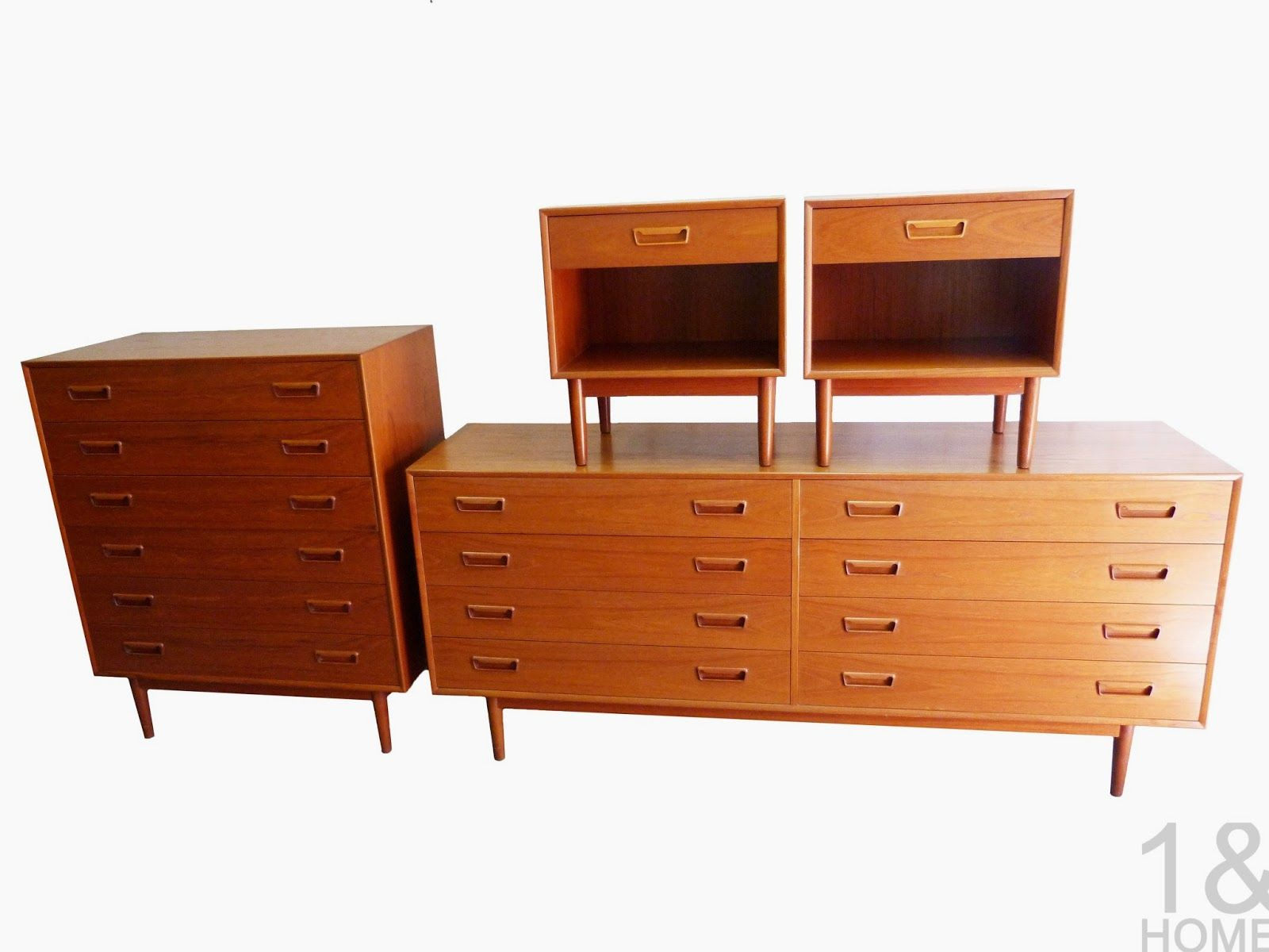 Westnofa of Norway Danish Modern Teak Bedroom Set | Mid century ...