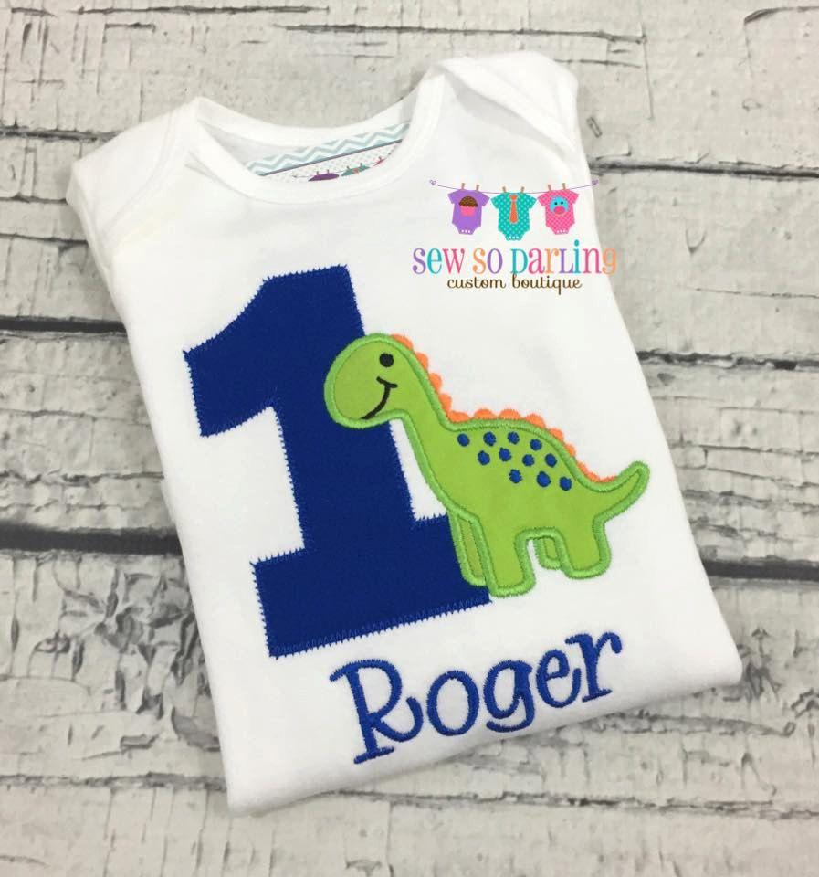 1st Birthday Dinosaur Shirt Baby Boy Outfit