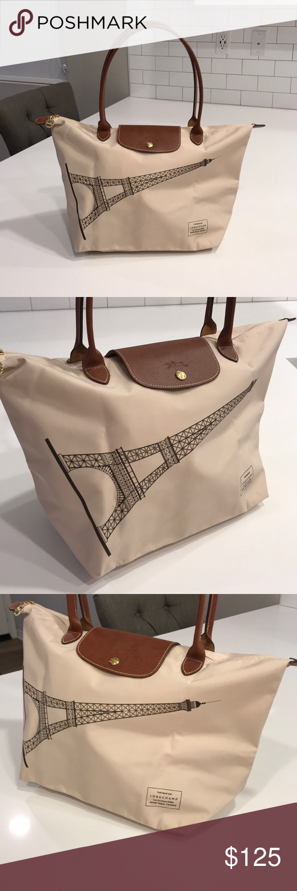 a9ad6dd2e94e Longchamp Le Pliage Large Limited Edition Paris Longchamp Le Pliage Large  Tote - Limited Edition Paris Eiffel Tower Print. Purchased from the  Longchamp ...