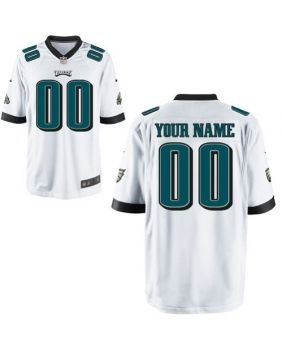 Custom Mens Philadelphia Eagles Elite White Jersey, 2013 Nike NFL ...