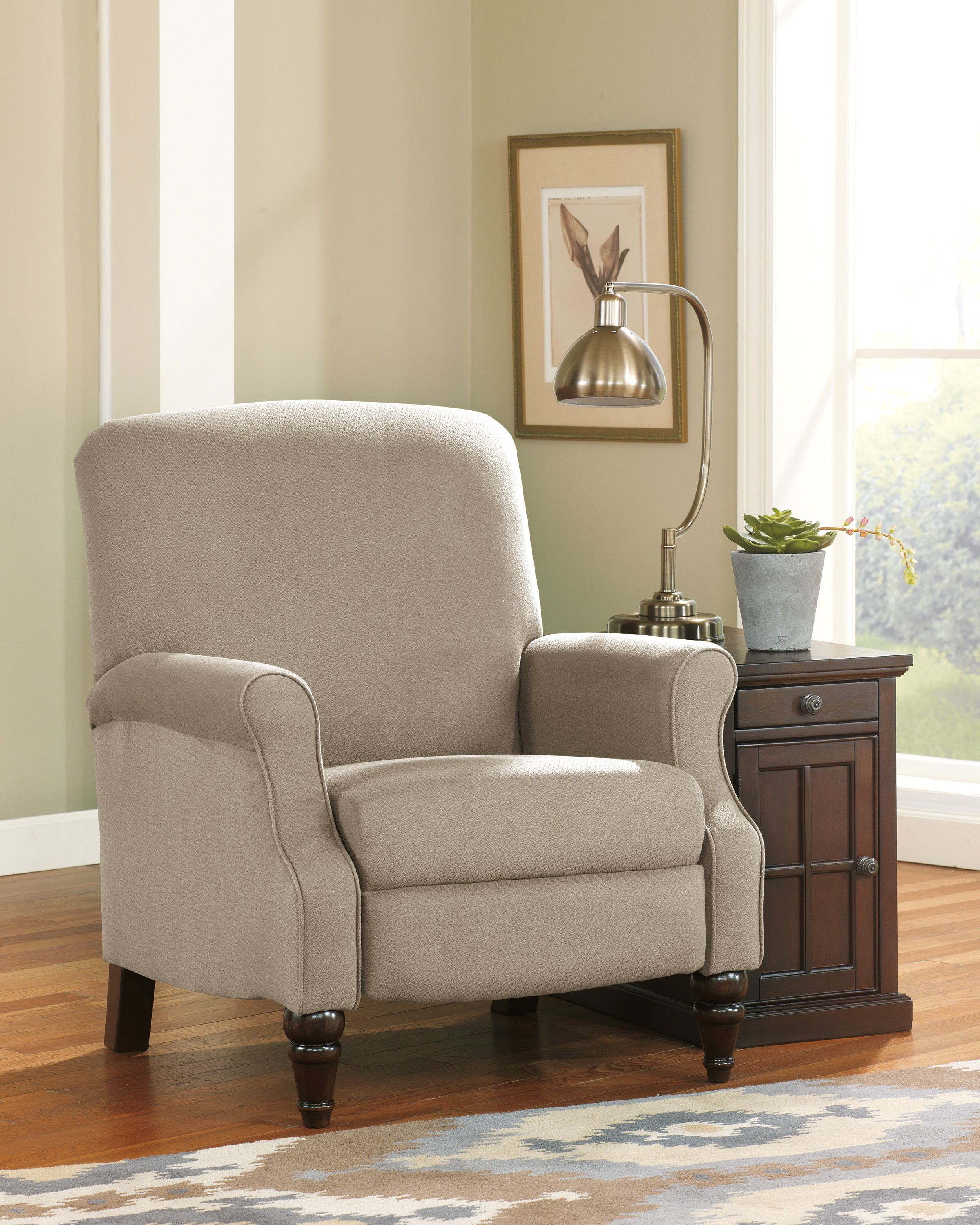 Placido Khaki Accent Chair with Arms by Ashley Furniture at