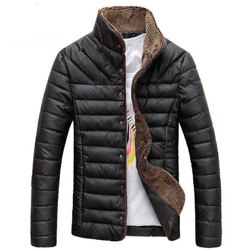 50acfe15d6875a 2016 Men Winter Jacket Warm Casual All-match Single Breasted Solid Men Coat  Popular Coat For Male Black Color Size M-3XL MWM432