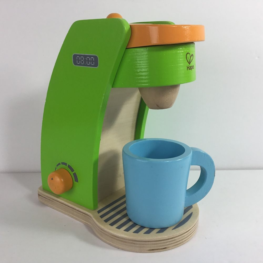 Hape Kids Coffee Maker For Wooden Play Kitchen Green Main Base