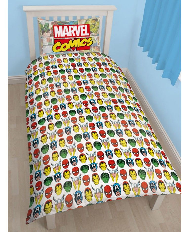 This Marvel Comics Justice Single Panel Duvet Cover Set Is Fully Reversible Giving You Two