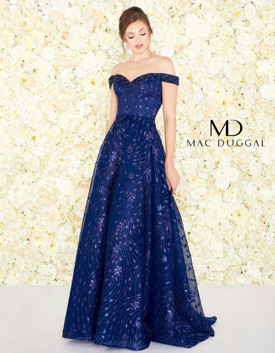 20111h Mac Duggal Ball Gown Midnight Blue Prom Dresses Mac Duggal Dresses Prom Dresses Blue [ 1166 x 910 Pixel ]