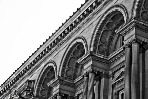 Old treasury building melbourne cbd architecture victoria australia black and white art photograph print