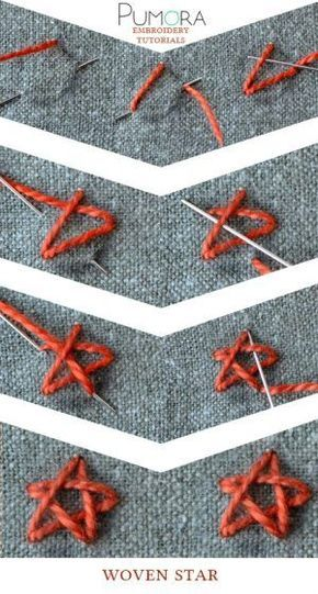 How To Embroider A Star : embroider, Woven, Stitch, Tutorial, Simple, Embroidery,, Embroidery, Tutorials,, Crewel