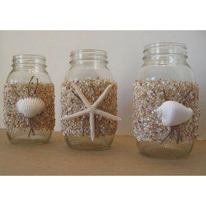 mason jar centerpieces with burlap - Google Search