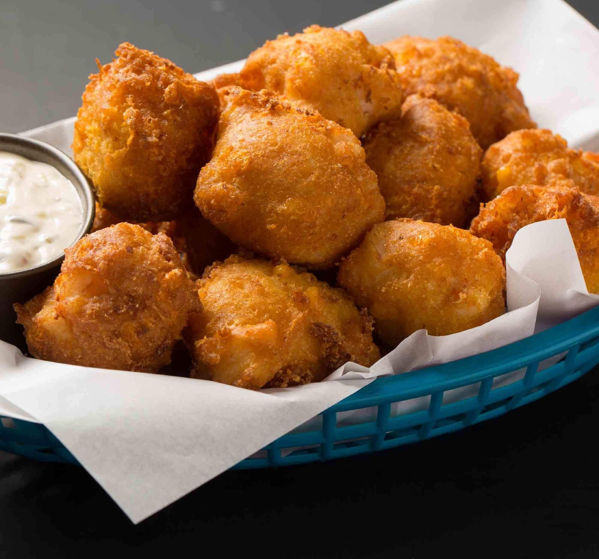 The Carolina Certified Shrimp Grits Hushpuppy Recipe Recipe Hush Puppies Recipe Recipes Seafood Dishes