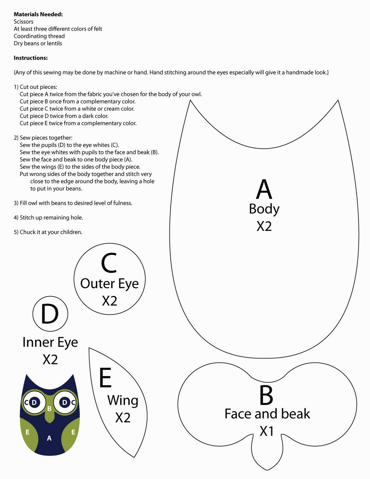 diy owl! | Owls-Paper | Pinterest | Patrones, Moldes and Costura