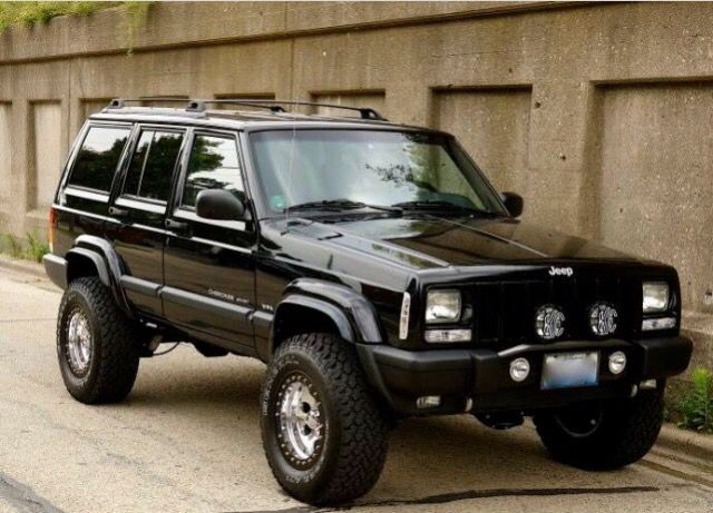 Black XJ with fog lights , love it! Jeep 2001 jeep cherokee