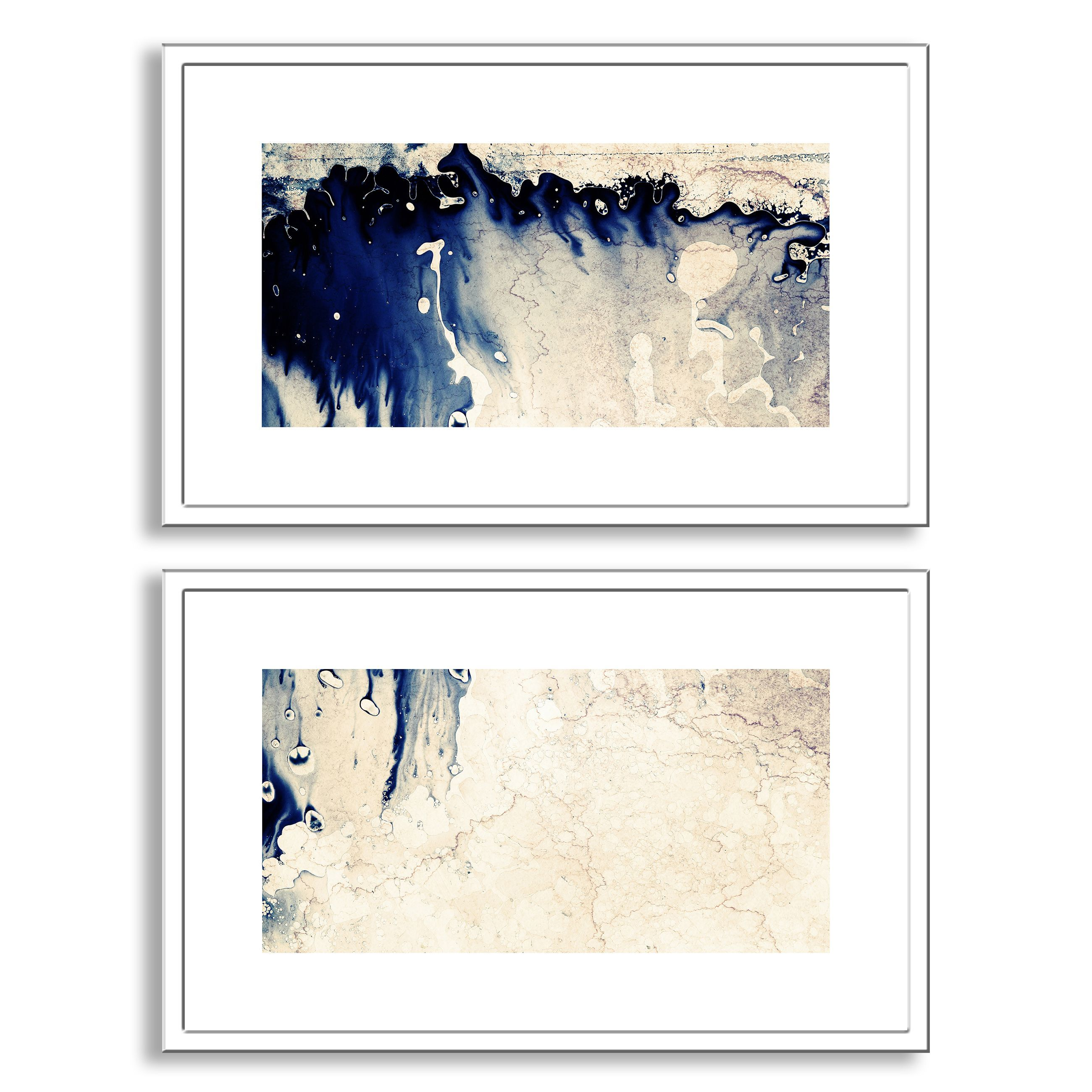 Donatas\'s \'Emergence\' Diptych Art is a two piece framed paper set ...