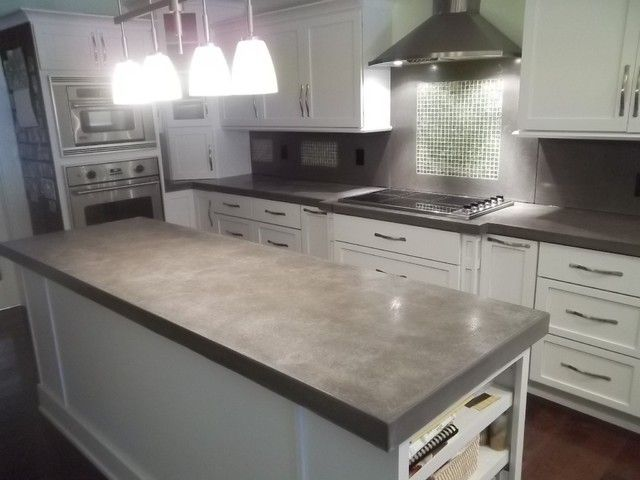 Concrete Counter Contemporary Kitchen Concrete Countertops