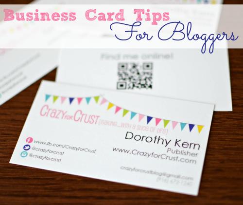 5 Tips For Blogging Business Cards Crazy For Crust Blog Organization Printables Blog Organization Business Blog