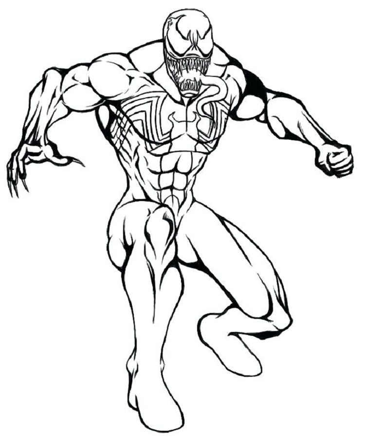 Venom Coloring Pages Printable Spiderman coloring