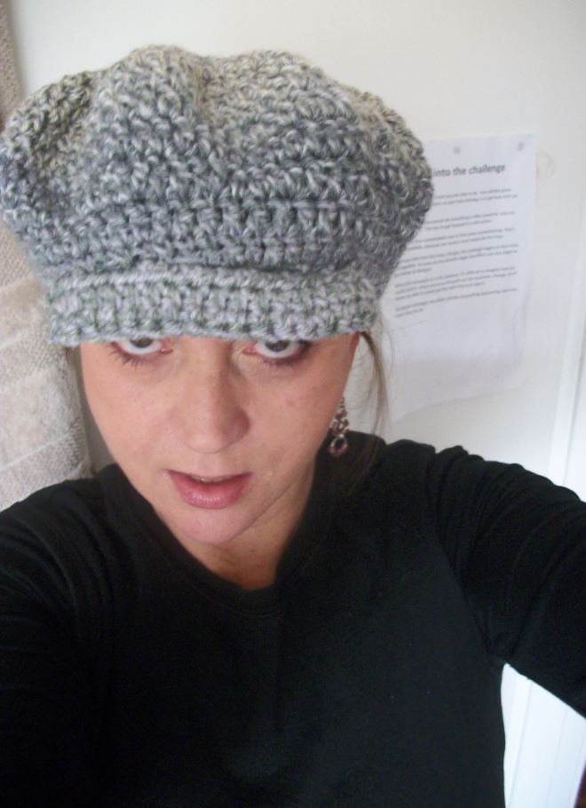 That's the great thing about hats - they're perfect for bad hair days. This is me, having one of those days.