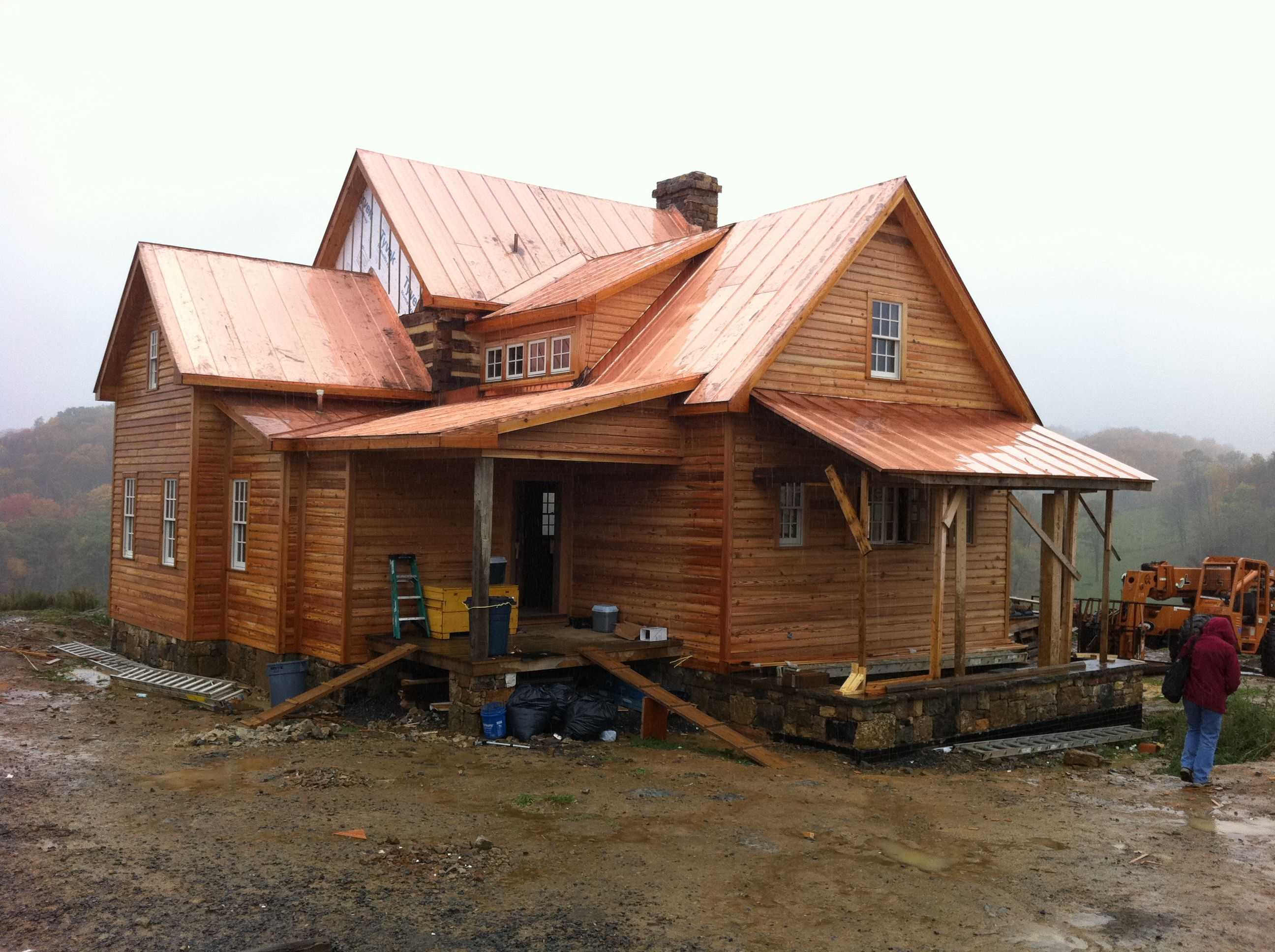 Best A Copper Roof From Shiny To Green Handmade Houses 400 x 300