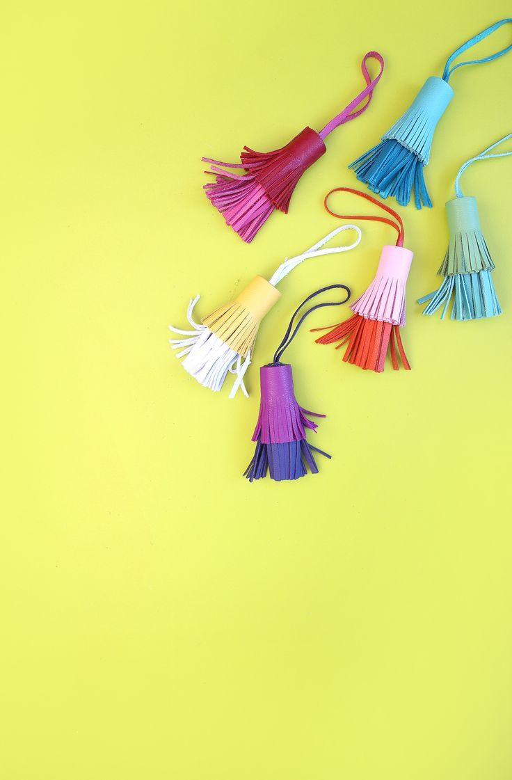 DIY Two-Toned Leather Tassels - Damask Love
