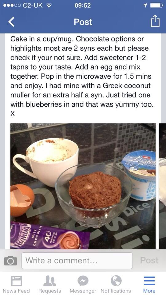 Cake in a cup | World recipes, Slimming world recipes ...