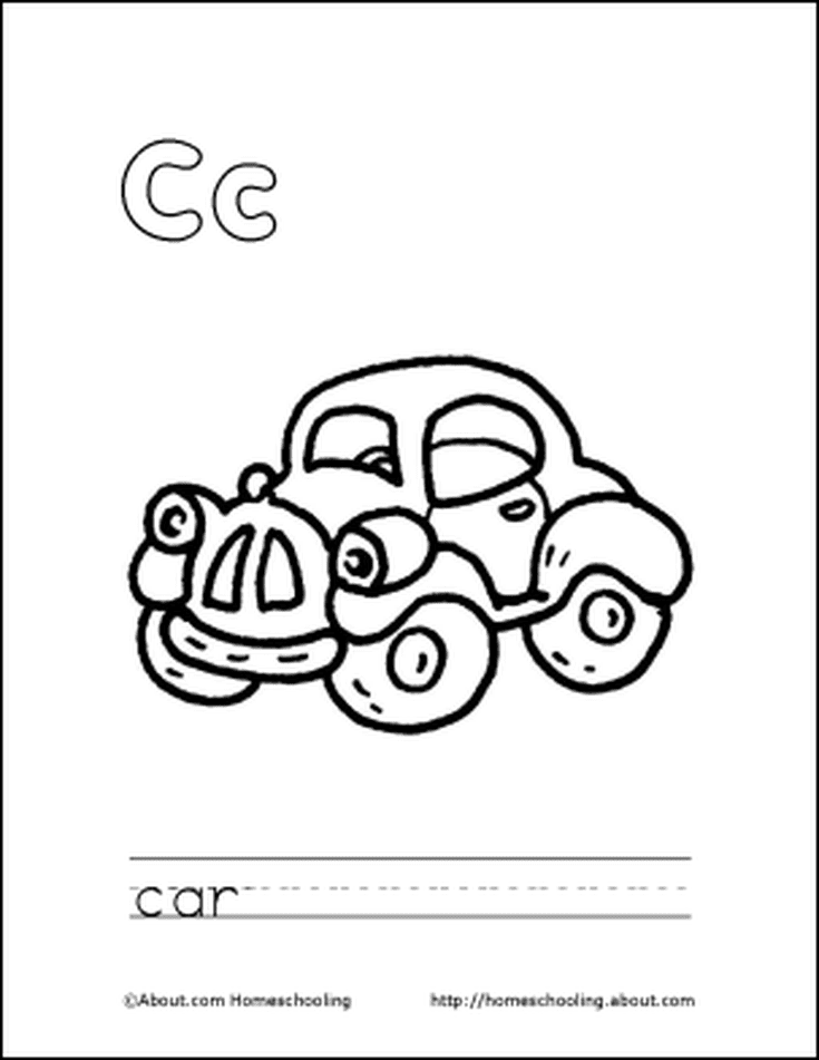 Letter C Coloring Book - Free Printable Pages | Coloring books