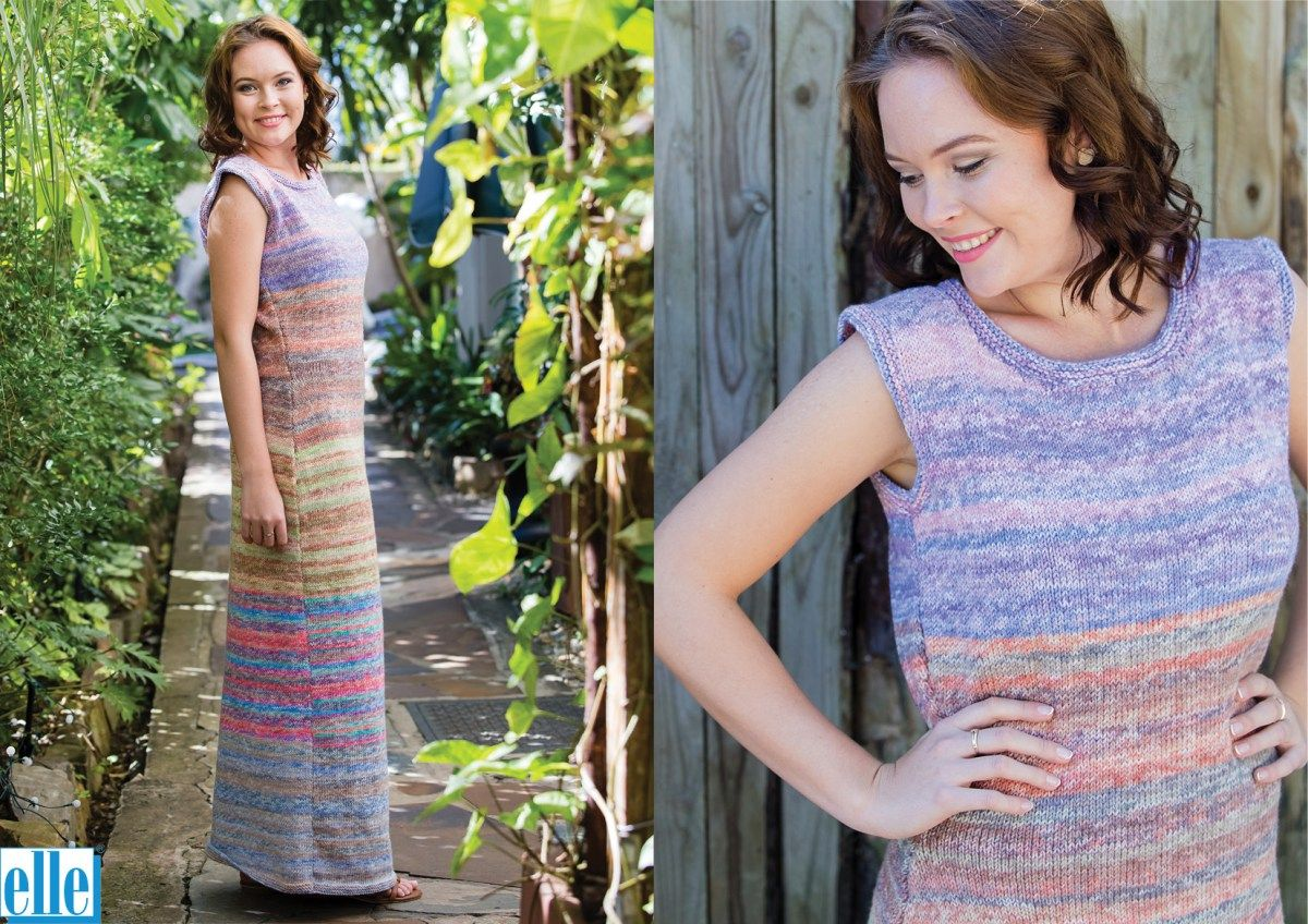 Dress  Brand: Elle Count:Double Knit Yarn:Pure Gold Print Size From:Small Size To:Extra Large Dress Size: 6-20