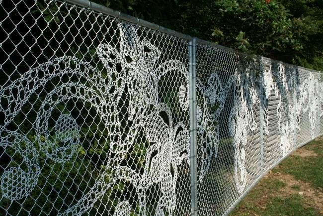 maschendrahtzaun кружева цветы Demakersvan парк | Garten ...