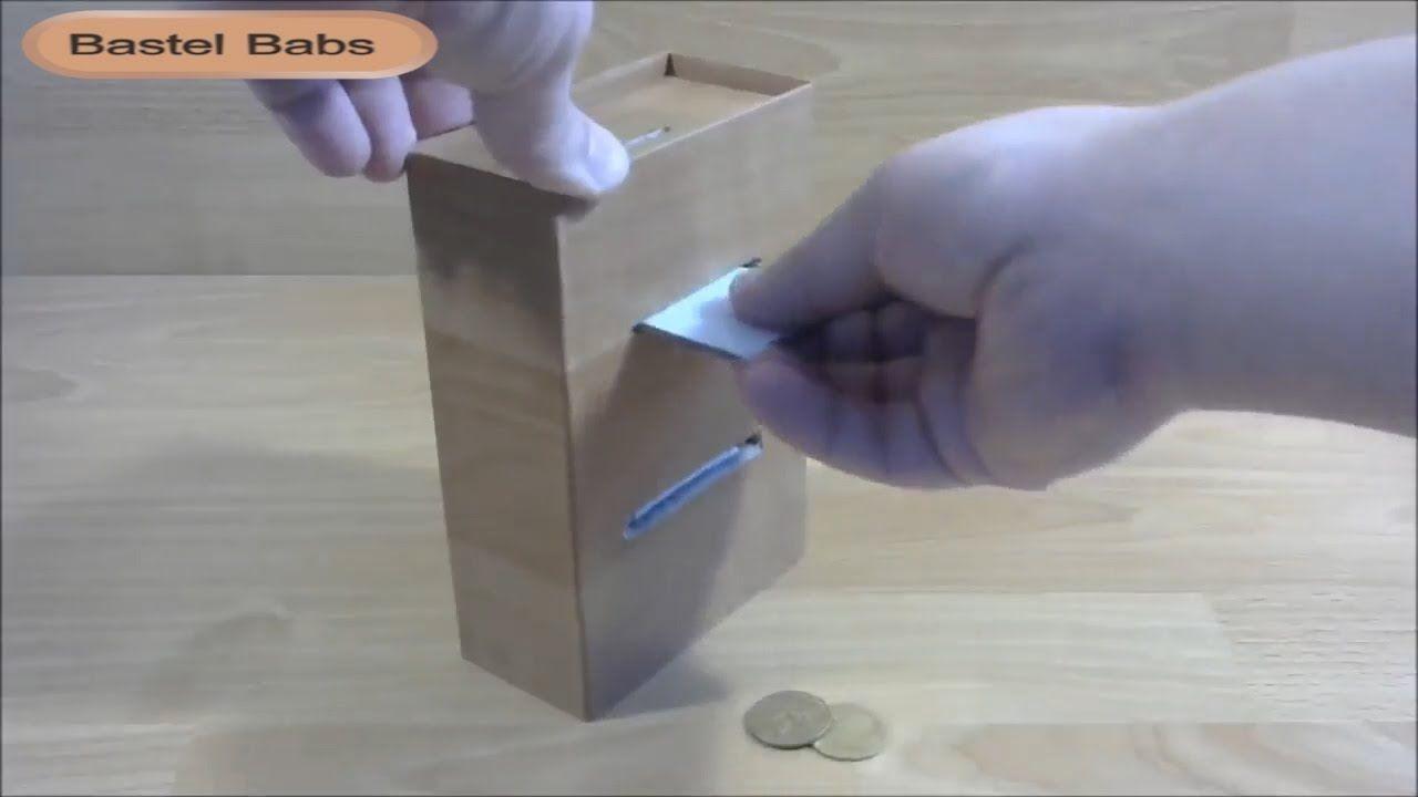 Gut gemocht Geldautomat für Kinder basteln - Automat aus Karton selber machen VN93