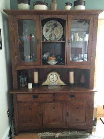 Dining Room Table Chairs And Hutch Mission Style