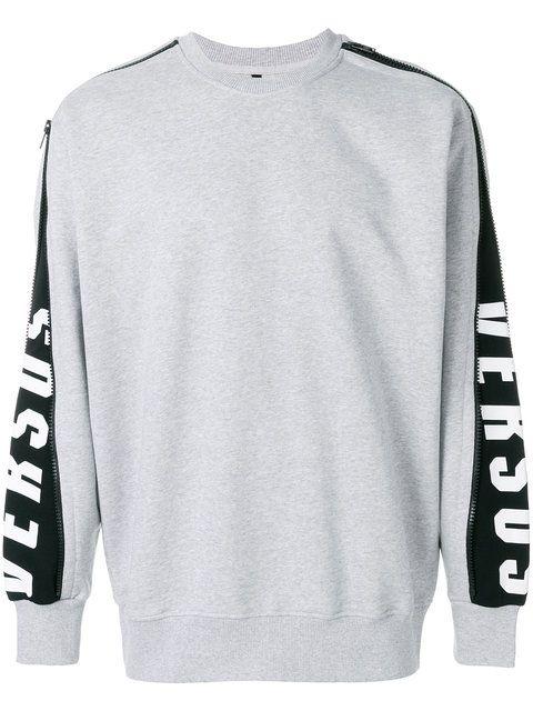 e291e07e766 VERSUS zip-sleeve logo sweatshirt.  versus  cloth