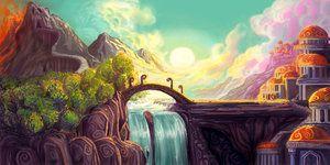 Fairytale Landscape By Athena Erocith Fantasy Landscape