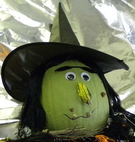 Calabazas infantiles de halloween decoradas carroza de - Calabazas decoradas manualidades ...