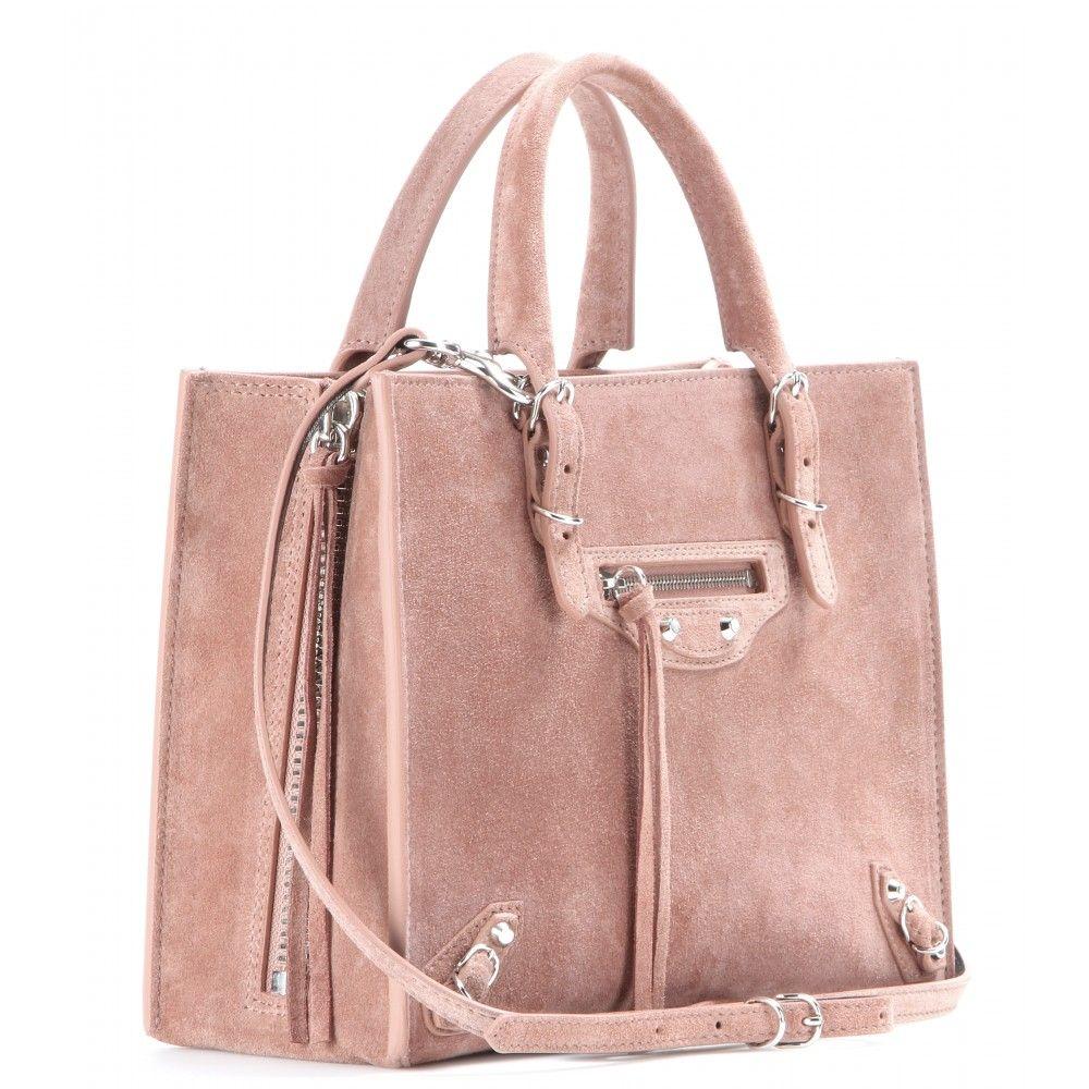 Balenciaga, Mini Papier A4 Zip-Around suede shoulder bag
