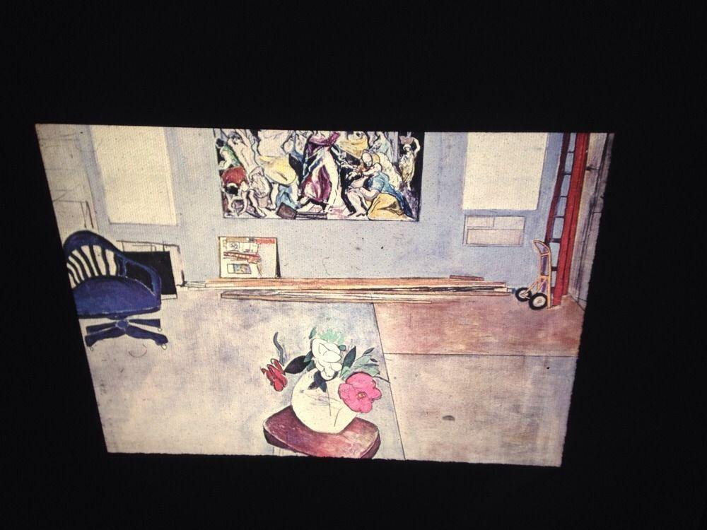"Ann Tabachnick /""El Greco In The Garage/"" Modern Art 35mm Glass Slide"