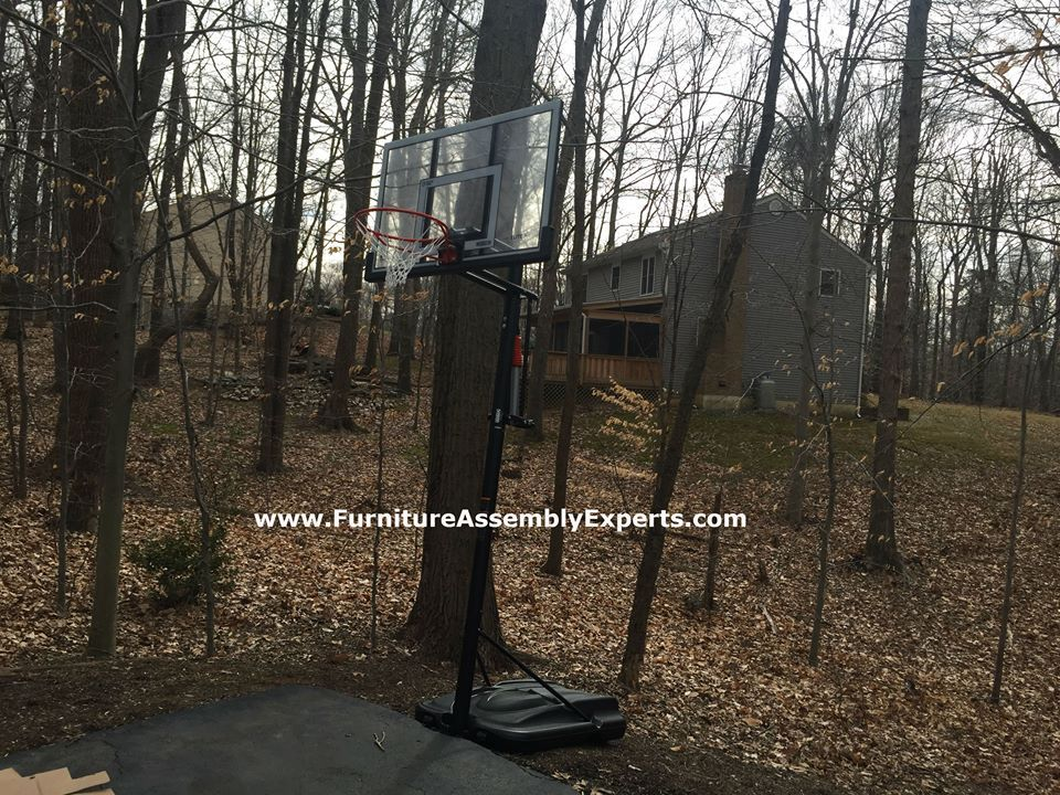 Costco Lifetime Portable Basketball Hoop Assembled In Gaithersburg Md By Furniture Assembly Experts Ll Furniture Assembly Portable Basketball Hoop Indoor Sauna