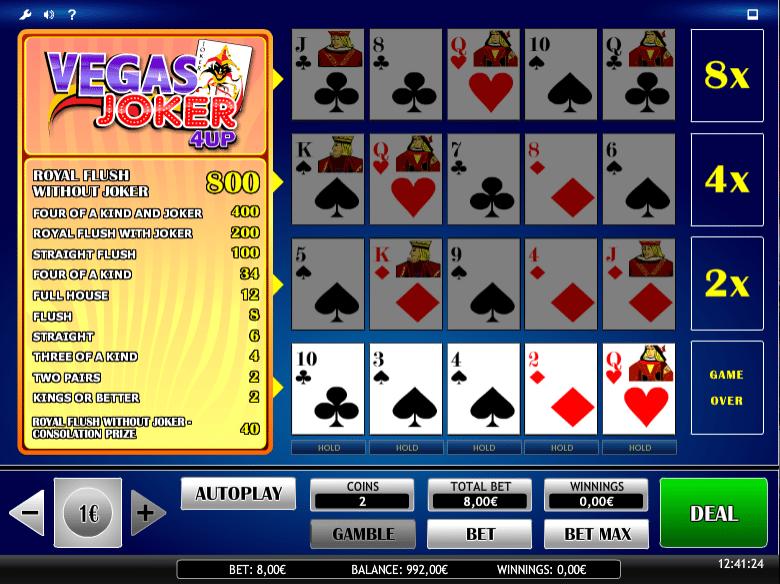 Joker Vegas 4UP » FreeSlot Online » Click And Play