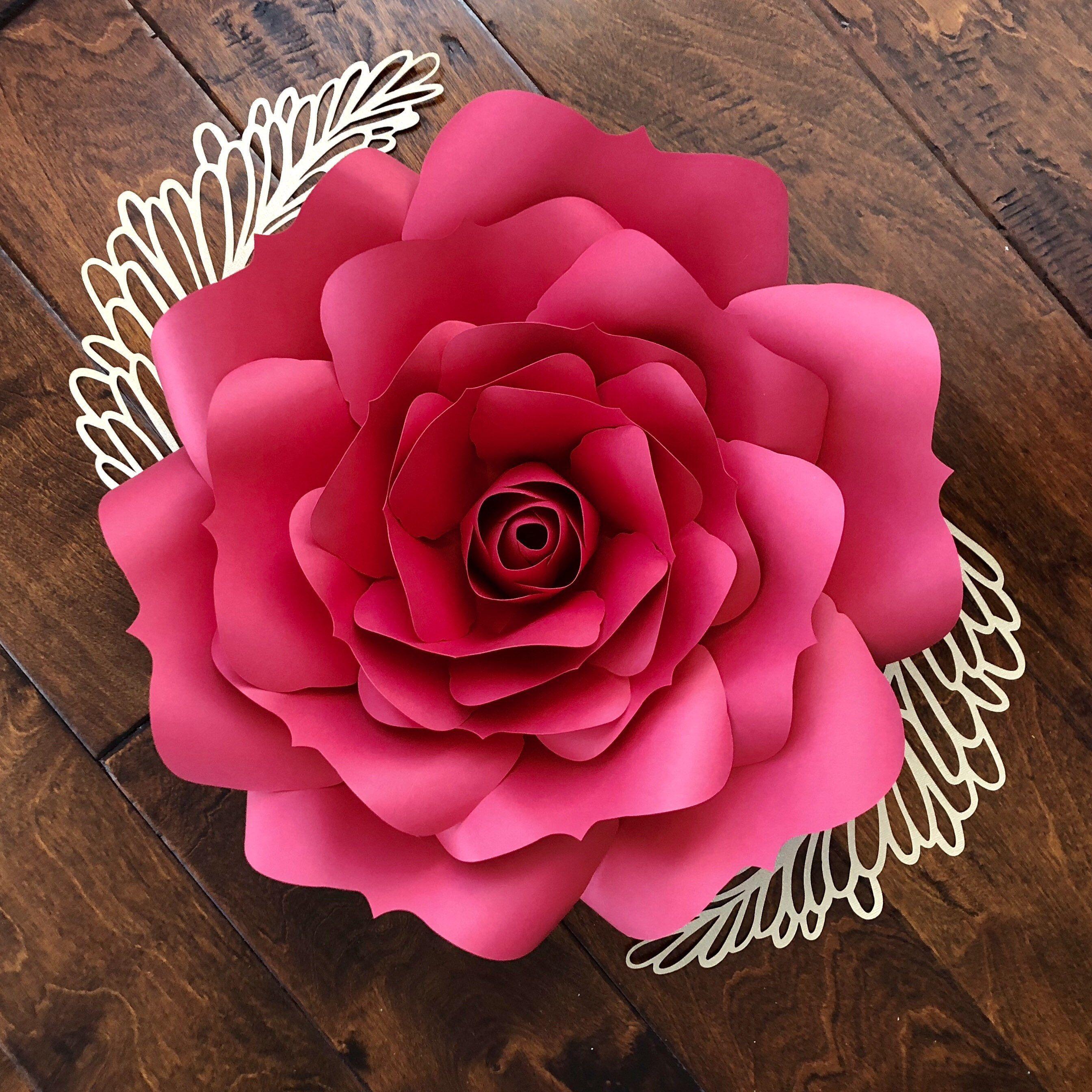 Instant Download Rose 5 Svg Large Paper Flower Rose Petal Template