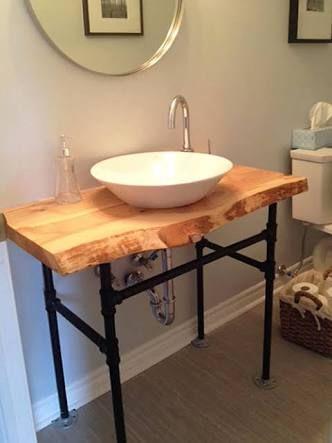 Kartinki Po Zaprosu Live Edge Vanity Top Wood Bathroom Bathroom