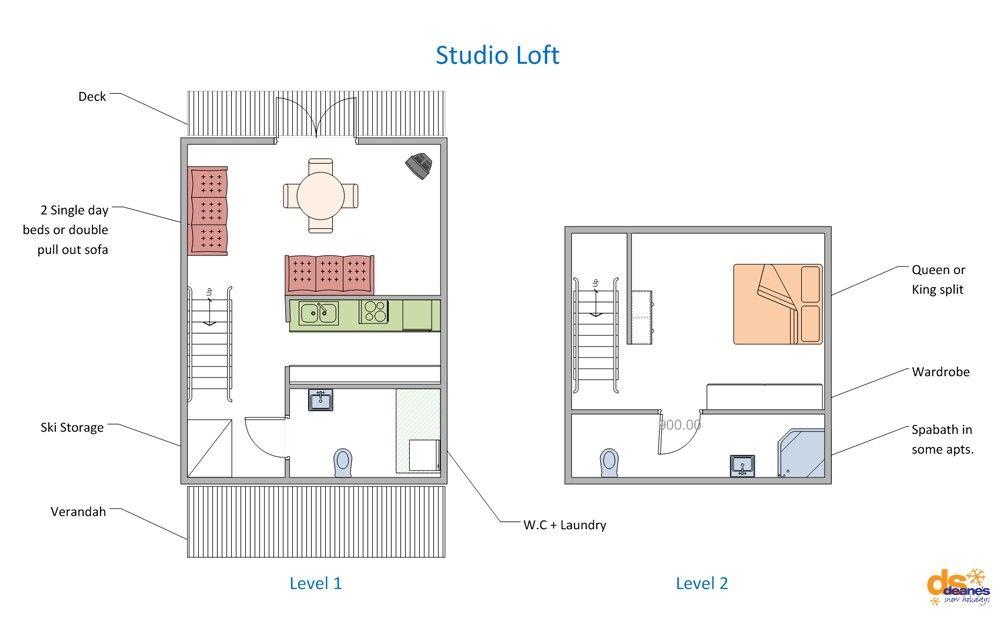 Studio Loft Apartment Floor Plans