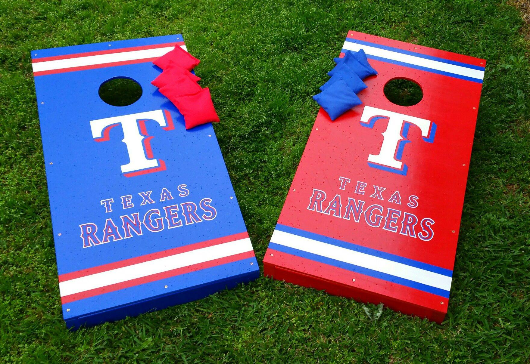 Texas Rangers Cornhole Set Texas Rangers Cornhole Cornhole Set