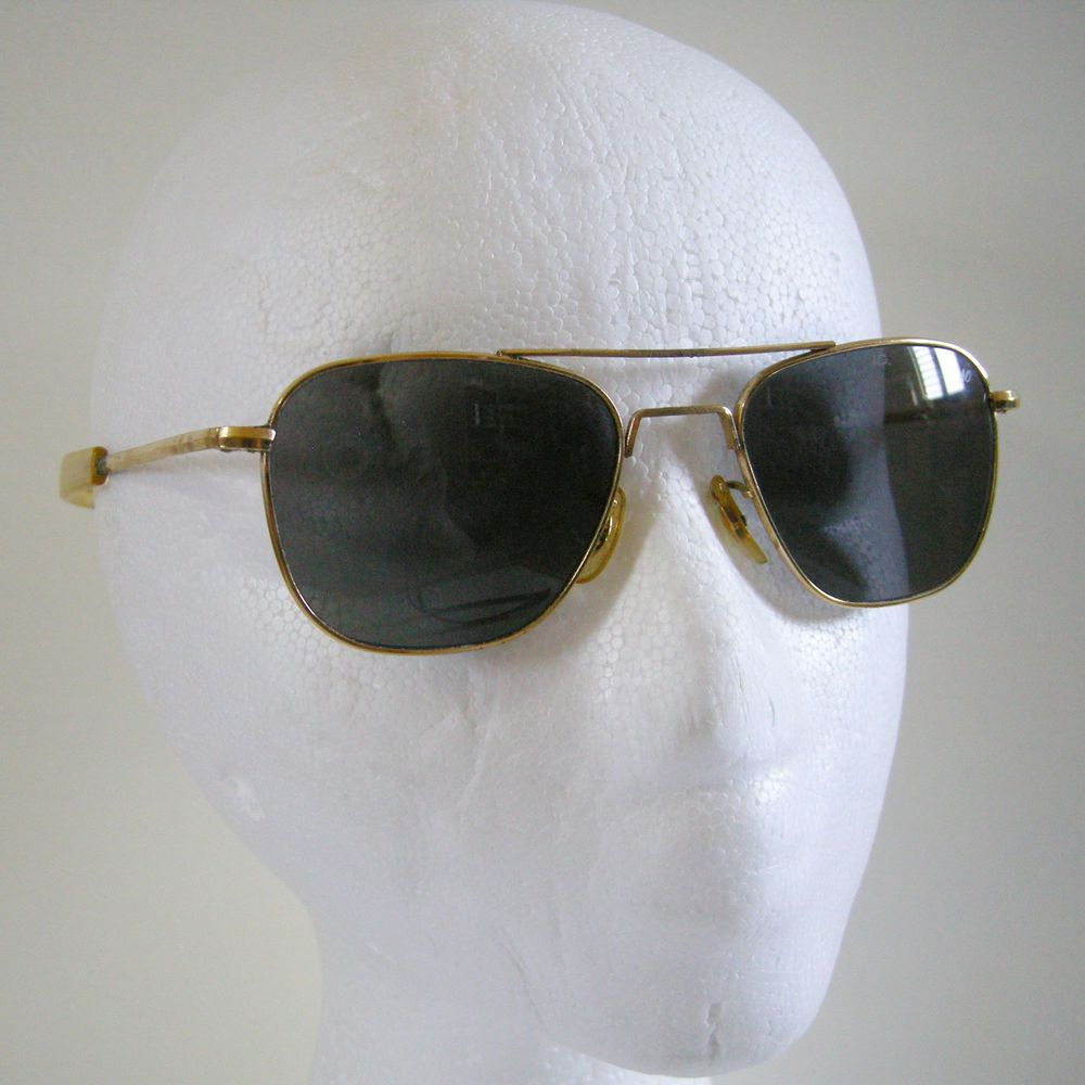 Vintage American Optical AO Gold Original Pilot 52  20 Aviator Sunglasses   Ao  OriginalPilot 0006aa899d60